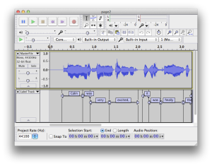 Assigning Text Labels in Audacity